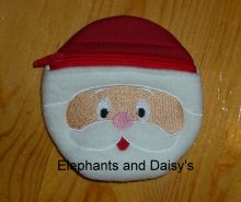 Santa ITH purse Design file