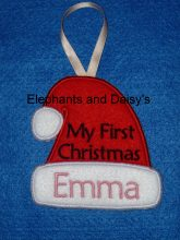 First Christmas Santa hat Design