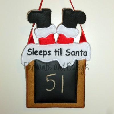 Sleeps till Santa Chimney design file