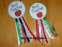 Best Teacher Rosette Design files