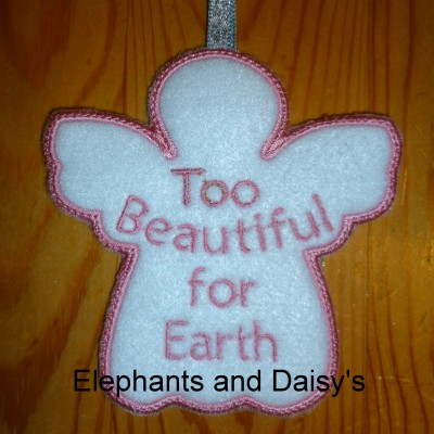 Angel Too Beautiful for Earth Design file