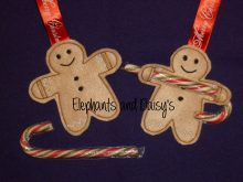 Gingerbread Man Candy Cane Holder Design file