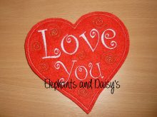 Love You Heart Design file