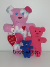 Teddy with Heart Stuffie Design file