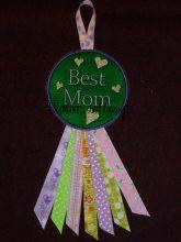 Best Mom Rosette Design file