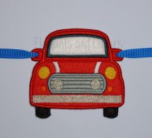 Mini Car Banner piece Design file