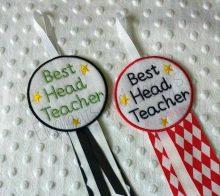 Best Head Teacher Rosette design file