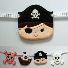 Pirate Face Banner design file