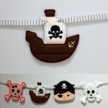 Pirate Ship banner Design file
