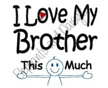I Love My Brother Design file