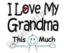 I Love My Grandma Design file