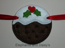 Christmas Pudding Banner Design file