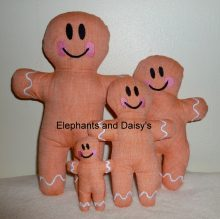 Gingerbread Man Stuffies design file