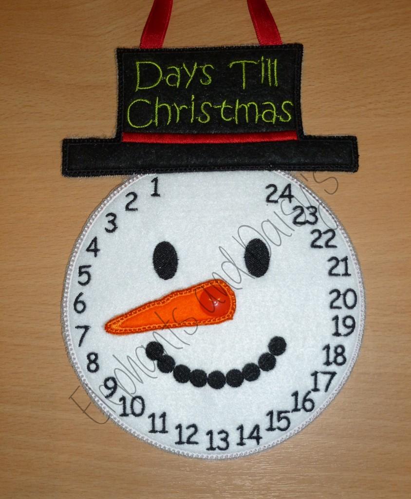 snowman advent clock design file   hannah