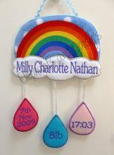 Rainbow and Raindrops design file