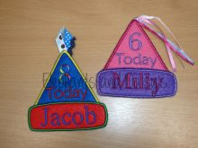 Birthday Hat Badges 1 to 10 Design files
