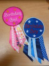 Birthday Rosettes Design file
