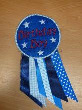 Birthday Boy Rosette Design file