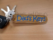 Dad's Keys Keyring Design file