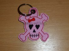 Girl Skull Keyring Design file