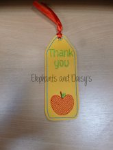 Thank you Bookmark Design file