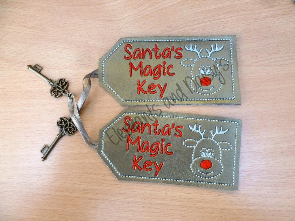 Applique Embroidery Santa Magic Key Designs
