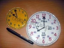 Vinyl Teaching Clock Design file