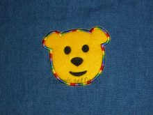 Teddy Face Applique Design file