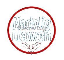 Colour Nadolig Llawen Bauble Design file