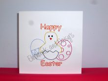 Easter Redwork Card Design file