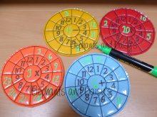 Maths Wheel Design file