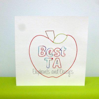 Ta Card Redwork Design file
