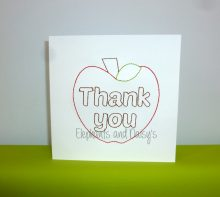 Thank you Card Redwork Design file