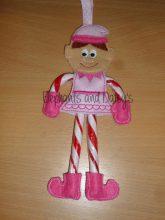 Elf Girl Candy Cane Holder Design file