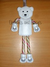Candy Cane Polar Bear Design file