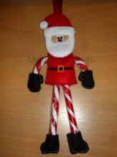 Santa Candy Cane Design file