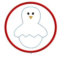 Easter Chick Colour Bauble Design file