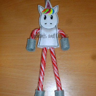 Candy Cane Unicorn Design file
