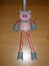 Candy Cane Pig Design file