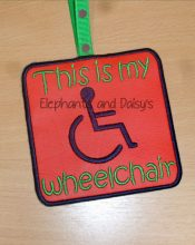 This Is My Wheelchair Tag Design file