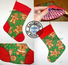 Criss-Cross Toe Stocking with All Round Cuff Design file
