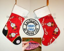 Satin Stitch Toe Stocking with All Round Cuff Design file