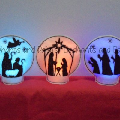Nativity Set Tealight Holder Design files