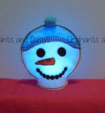 Snowman Tealight Design file