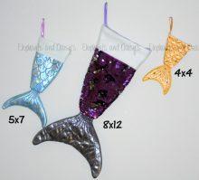 Mermaid Tail Stocking Design file