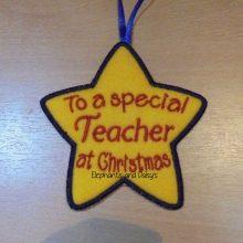 Teacher Christmas Star Design file