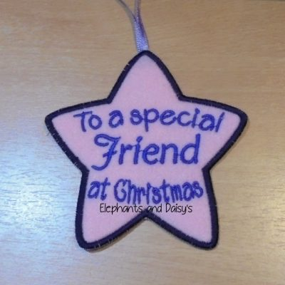 Friend Christmas Star Design file