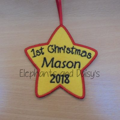 1st Christmas Star Design file