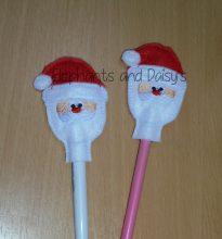 Santa Pencil Topper Design file