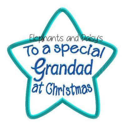 Grandad Christmas Star Design file